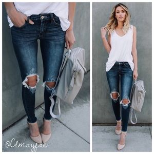 Denim - New Busted Knee Skinny Jeans